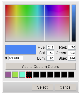 DHTMLX ColorPicker