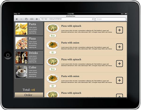 Demo Application - dhtmlxDataView in iPad
