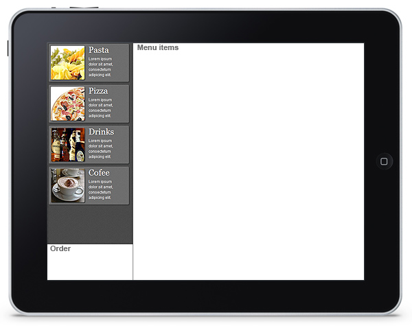 Restaurant Menu App - Menu Categories
