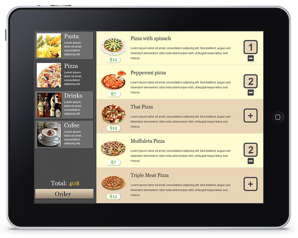 Restaurant Menu App Built with DHTMLX Touch