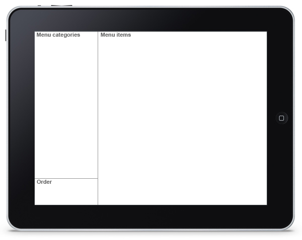Restaurant Menu App - Layout of Elements