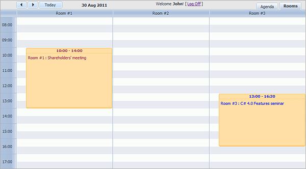 Room Booking Calendar with dhtmlxScheduler
