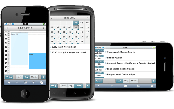 DHTMLX Mobile Scheduling Component