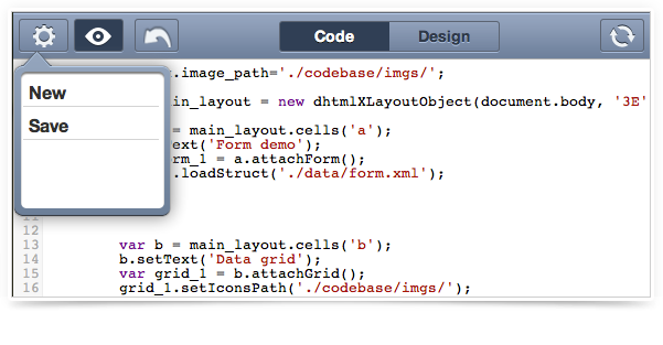 Visual Designer - Code Highlighting and Save Feature