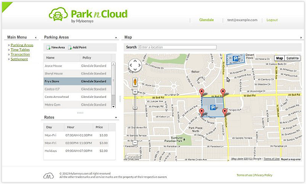 ParknCloud - Merchant Web Application
