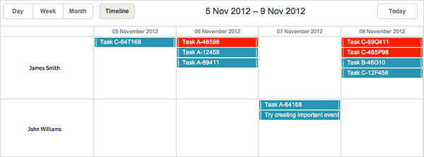 dhtmlxScheduler 3.6 - Enhancements for Timeline View