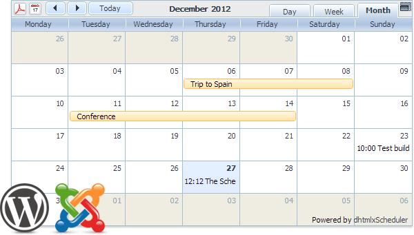Scheduler Plugins for WordPress and Joomla
