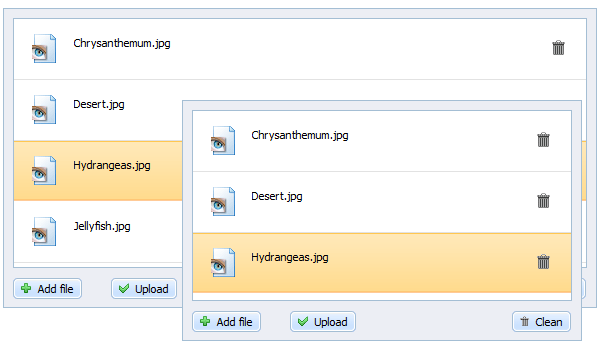 dhtmlxVault 1.7 - Resizable File Uploader