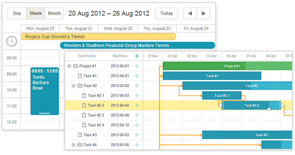 DHTMLX Scheduler and Gantt Chart