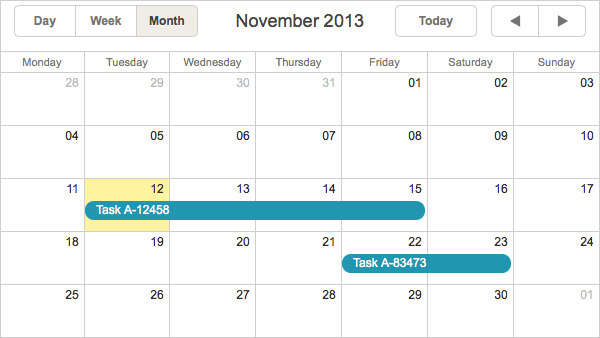 Monthly Calendar Using Javascript : Creating event calendar with dhtmlxscheduler and angularjs