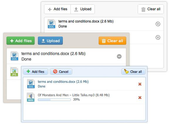 dhtmlxVault 2.0 - JavaScript File Uploader