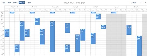 Multiple-days-calendar