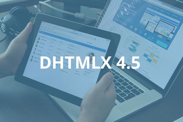 DHTMLX 4.5 Update