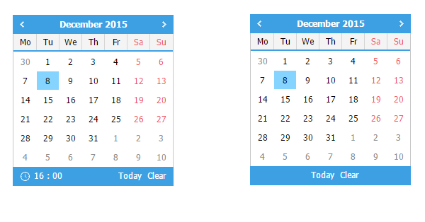 Today-Clear Buttons in dhxCalendar