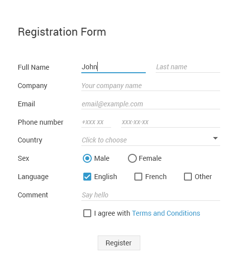 Creating Registration Form With Online Form Builder