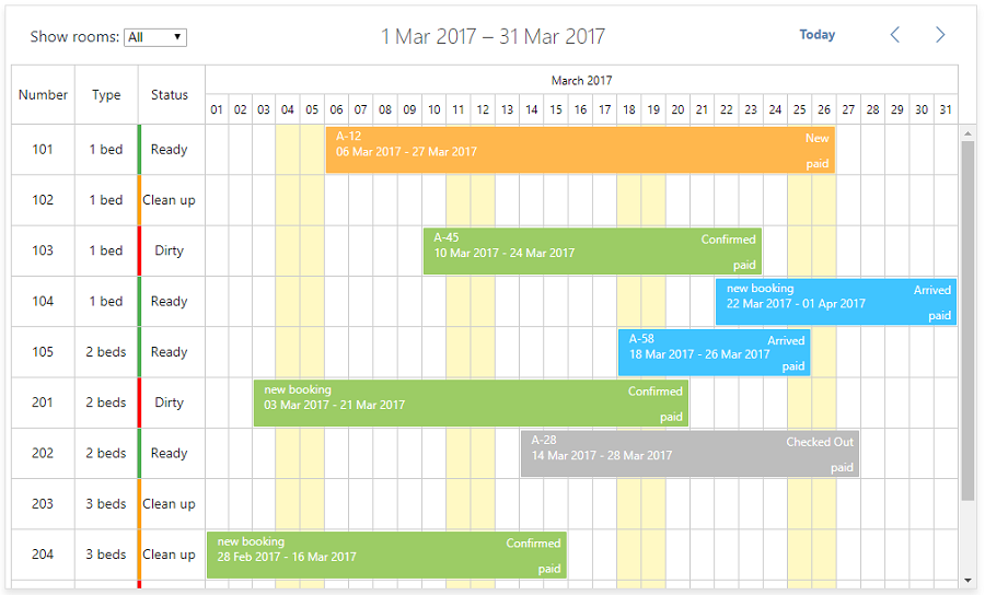 How to Make Hotel Booking Calendar with dhtmlxScheduler