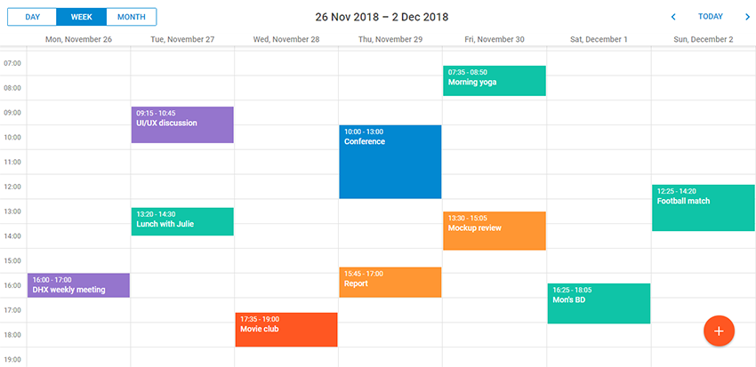 Material skin for Scheduler.NET