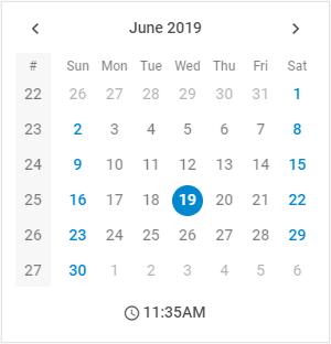 JavaScript Calendar by DHTMLX