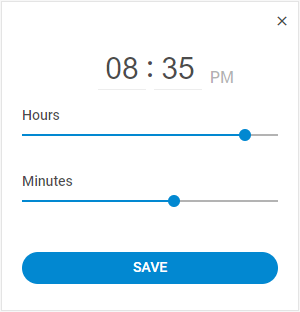 JavaScript time picker - DHTMLX