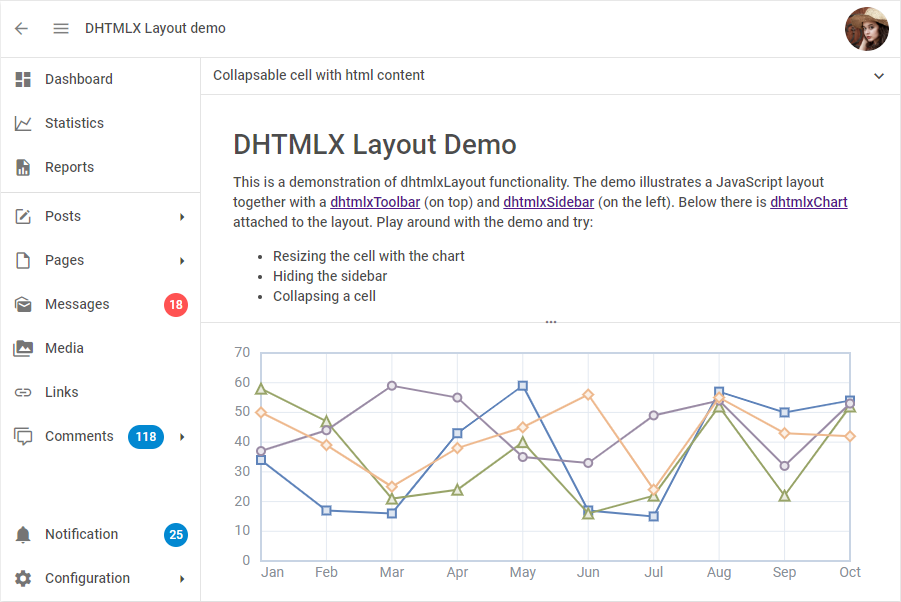 JavaScript Layout Library by DHTMLX
