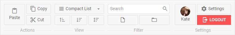 JavaScript Ribbon Toolbar - DHTMLX