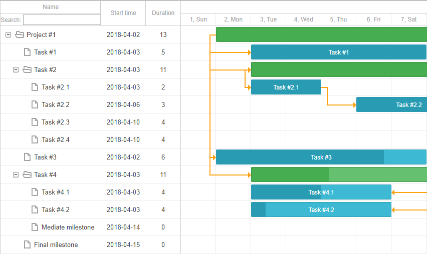 Multiline headers in DHTMLX Gantt