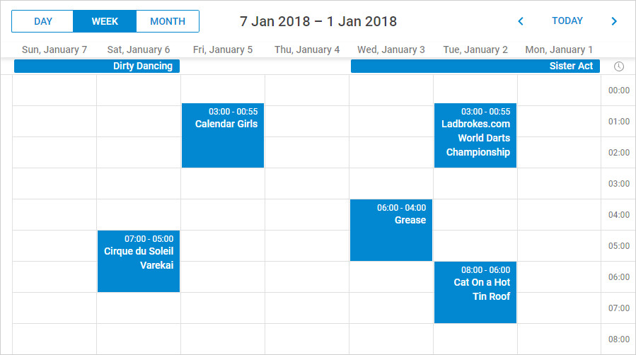 RTL mode of DHTMLX Scheduler