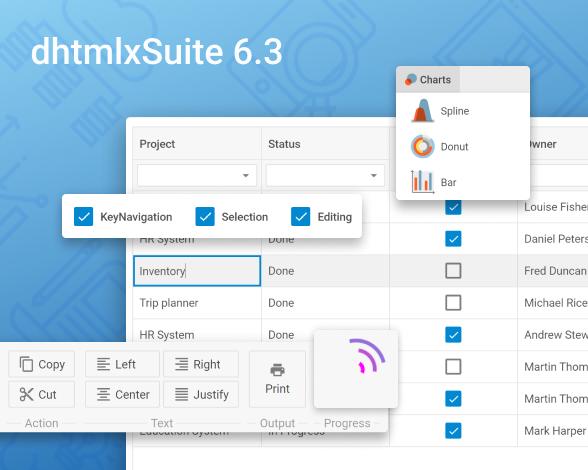 DHTMLX Suite 6.3