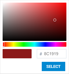 Picker mode of DHTMLX Vue.js Colorpicker
