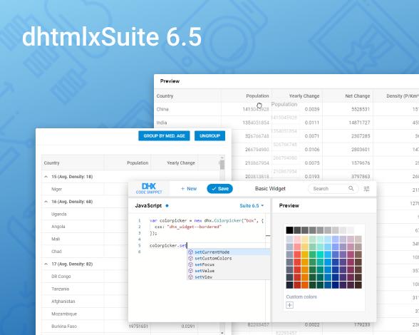 DHTMLX Suite 6.5