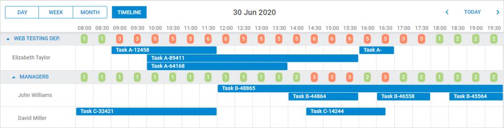 Scheduler - Timeline view - Custom HTML content