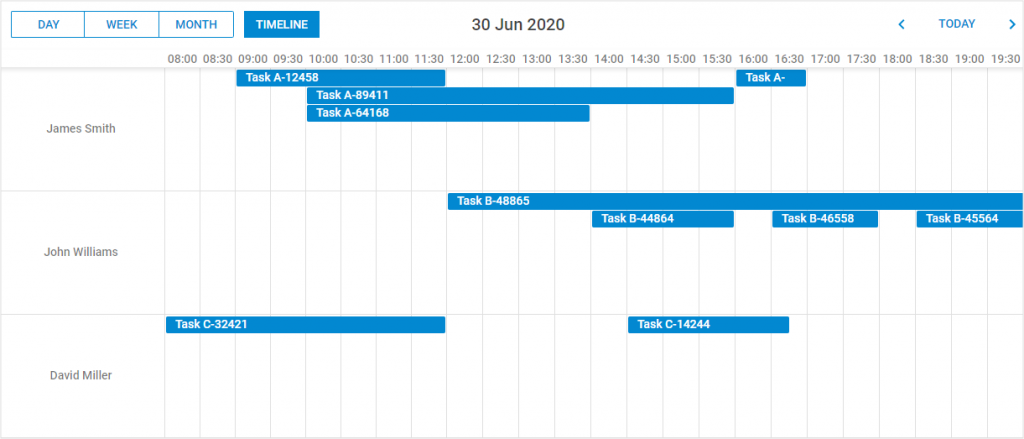 Event Calendar -Timeline view