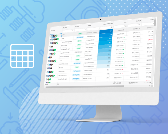 top grid features