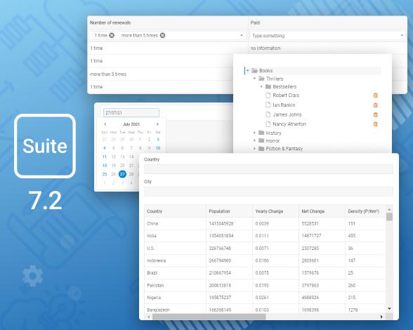 DHTMLX Suite v7.2 release
