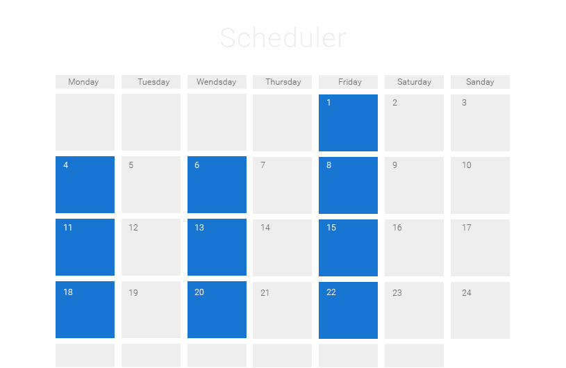 Monthly Calendar Using Javascript : Javascript event calendar ajax scheduler dhtmlxscheduler