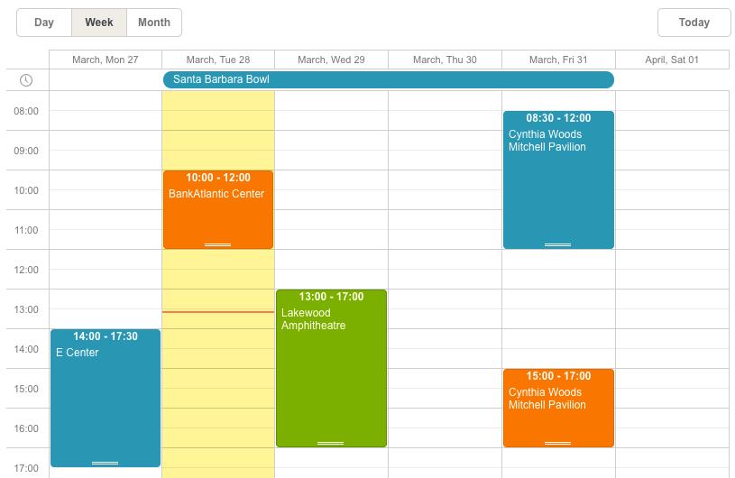 ASP NET Event/Booking Calendar - Scheduler NET
