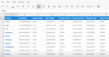 spreadsheet demo picture
