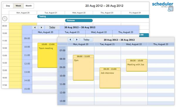 dhtmlxScheduler :: Ajax Event Calendar full screenshot